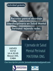 I Jornada de Salud Mental Perinatal Materna ONG