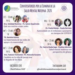 Conversatorios por la Semana de la Salud Mental Materna 2020