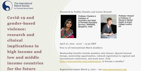 Workshop Covid-19 and gender-based violence: research and clinical implications in high income and low and middle income countries for the future