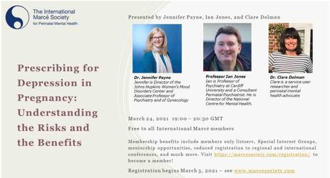 Workshop Prescribing for Depression in Pregnancy: Understanding the Risks and the Benefits