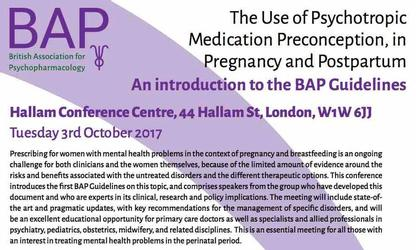 Conferencia: The Use of Psychotropic Medication Preconception, in Pregnancy and Postpartum