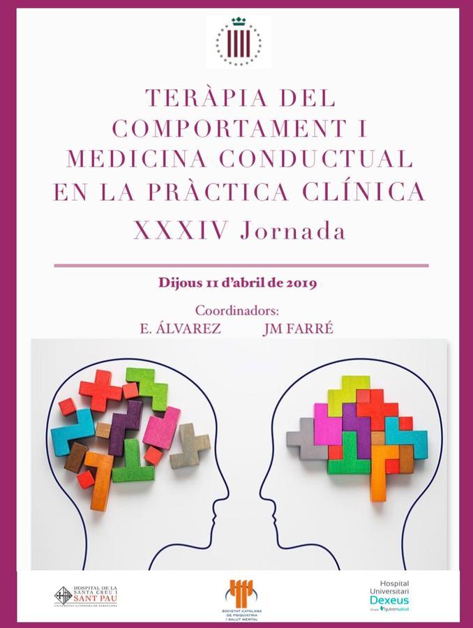XXXIV Jornada de Teràpia del Comportament i Medicina Conductual en la Pràctica Clínica