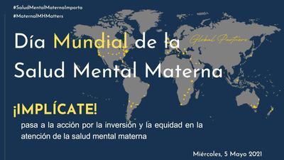 Hemos traducido al español la infografía de la Campaña del Día Mundial de la Salud Mental Materna del año 2021. Puedes descargártela y difundir !!