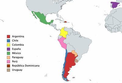 En estos momentos, participan en la Red 9 países de habla hispana: Argentina, Chile, Colombia, México, Perú, República Dominicana, Uruguay, Paraguay y España.