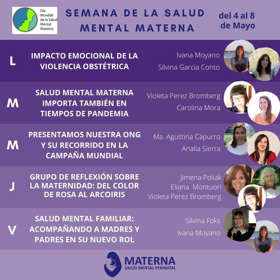 Semana de la Salud Mental Materna desde la ONG MATERNA Salud Mental Perinatal